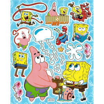 استیکر کودک طرح باب اسفنجی مدل SpongeBob  -A 012 a