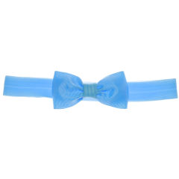 هدبند نوزادی پاپیونی مدل کلاسیک رنگ آبی