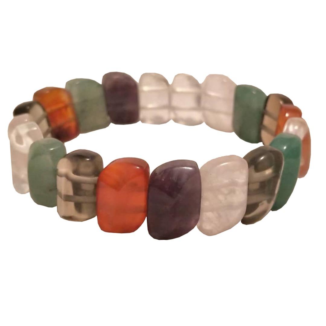 دستبند سنگی کد 012 - انواع کوارتز