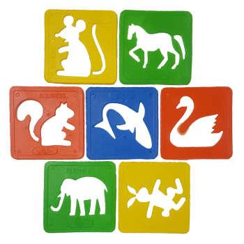 شابلون طرح حیوانات مدل zozo