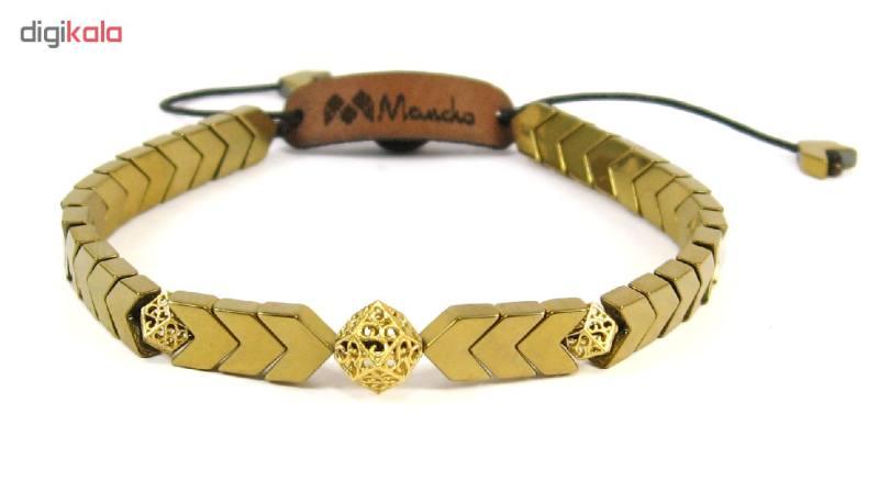 دستبند طلا 18عیار مانچو مدل bfg124