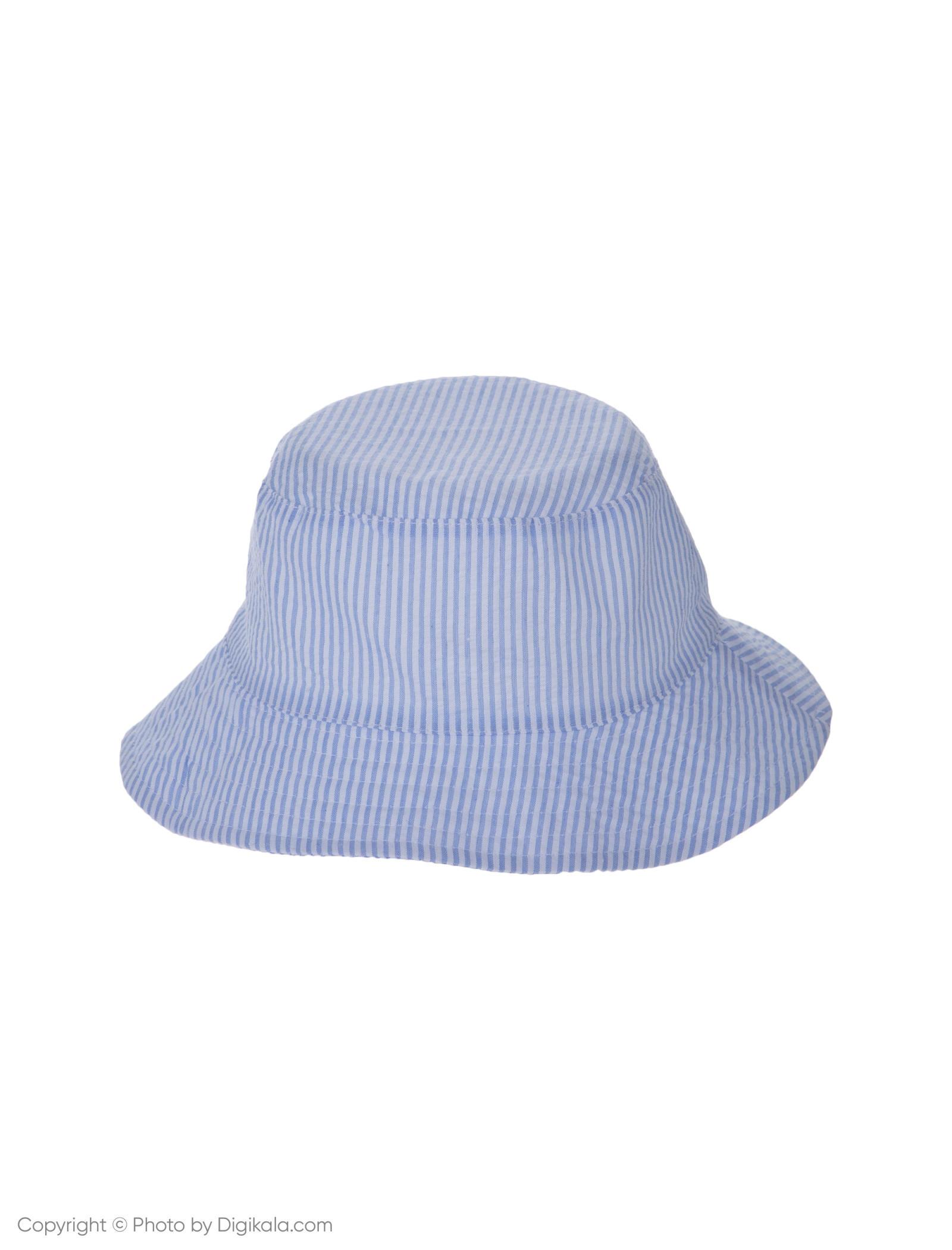 کلاه نخی ساحلی دخترانه - بلوکیدز - سفيد/آبي روشن - 1