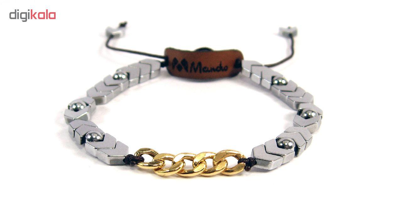 دستبند مردانه مانچو مدل bfg130