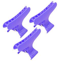 کلیپس مو مدل F203 رنگ آبی تیره بسته 3 عددی تک سایز