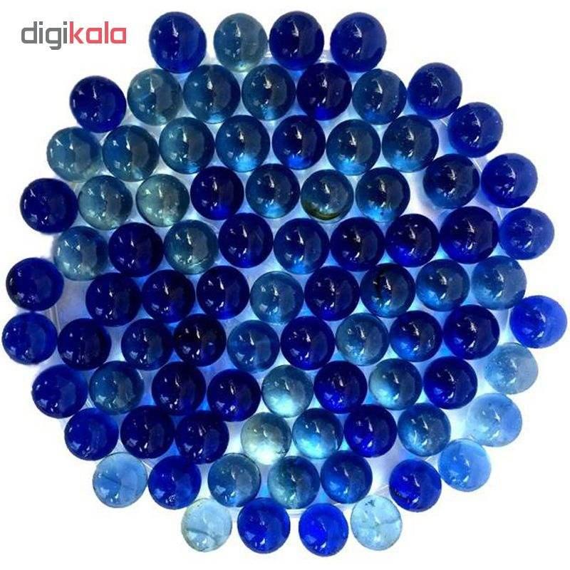 تیله شیشه ای گلدونه مدل آبی بسته 100 عددی thumb 1