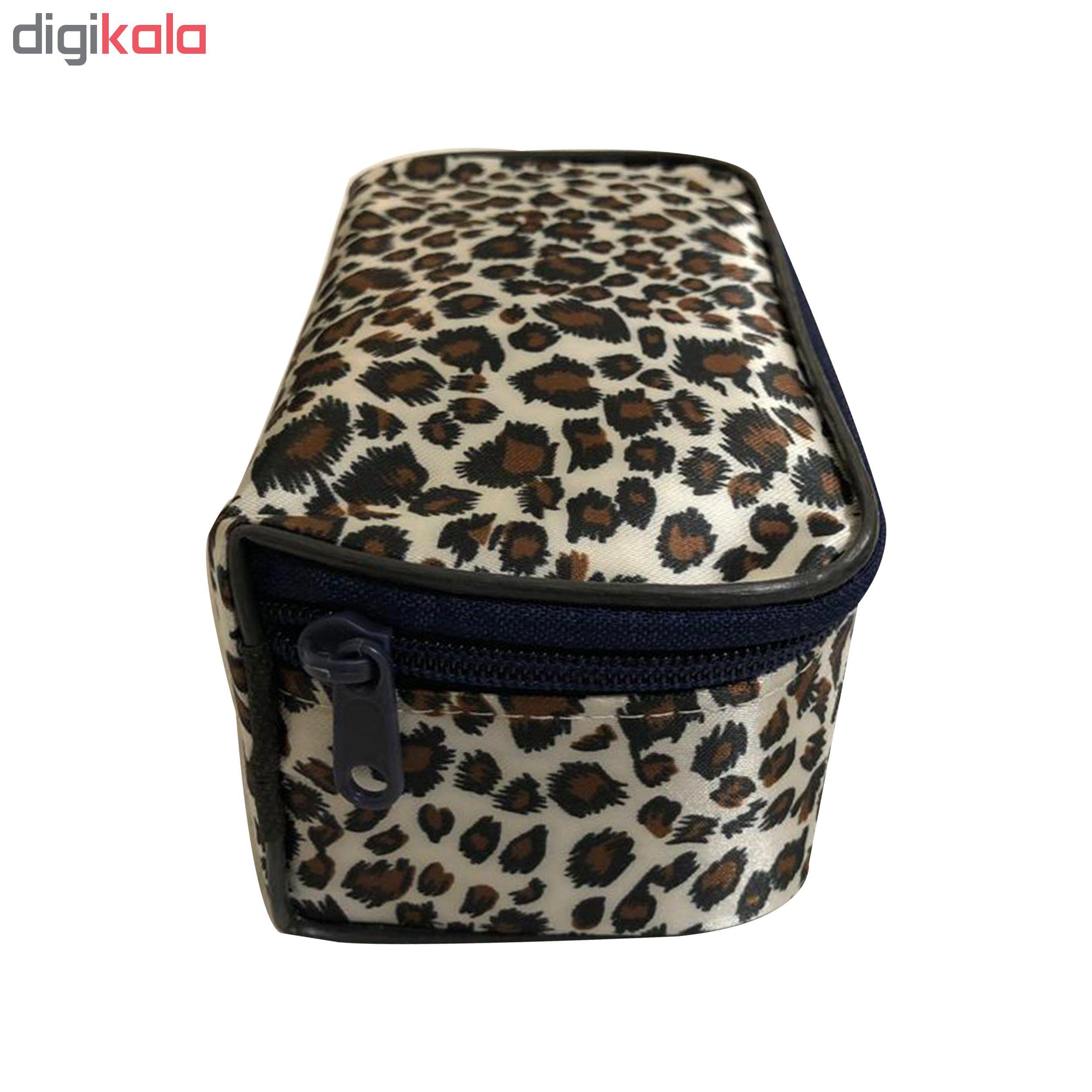 کیف لوازم آرایشی پلنگی مدل K3