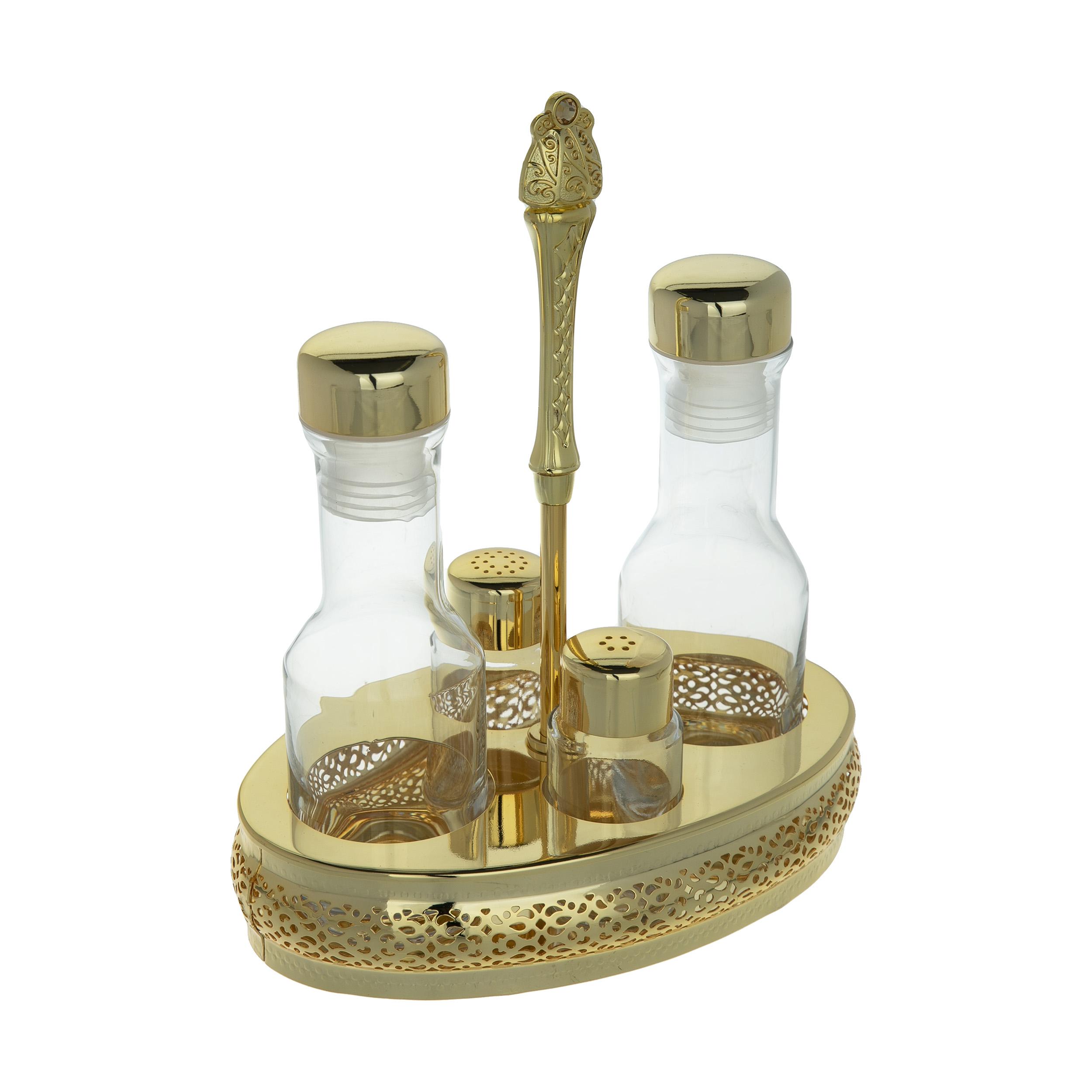 عکس ست آبلیموخوری و نمک پاش 4 پارچه ریجنت مدل ROYAL GOLD کد H2512888
