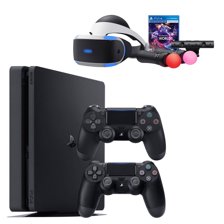 مجموعه کنسول بازی سونی مدل Playstation Slim 2018 ریجن 2 کد CUH - 2216B ظرفیت 1 ترابایت
