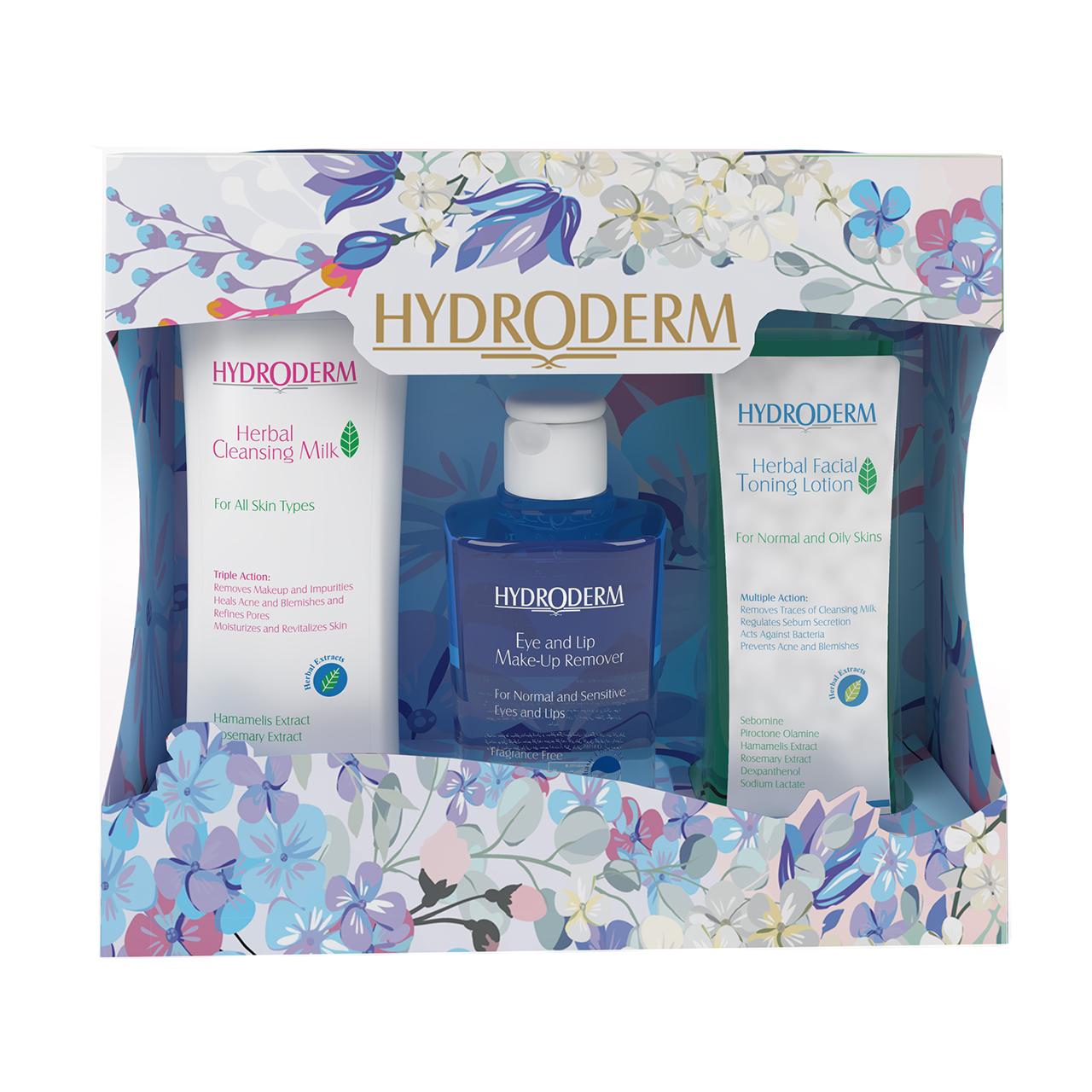 قیمت پک پاک کننده آرایش هیدرودرم مدل Herbal Extracts بسته سه عددی