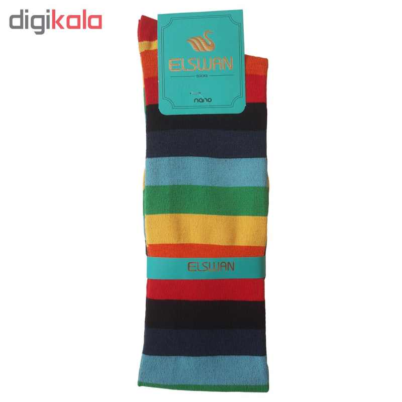 جوراب بلند زنانه ال سون طرح رنگین کمان کد PH75
