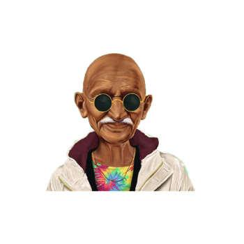 استیکر لپ تاپ طرح گاندی کد 30
