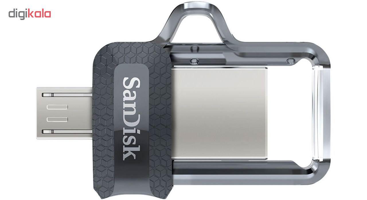 فلش مموري سن ديسك مدل Ultra Dual Drive M3.0 ظرفيت 32 گيگابايت