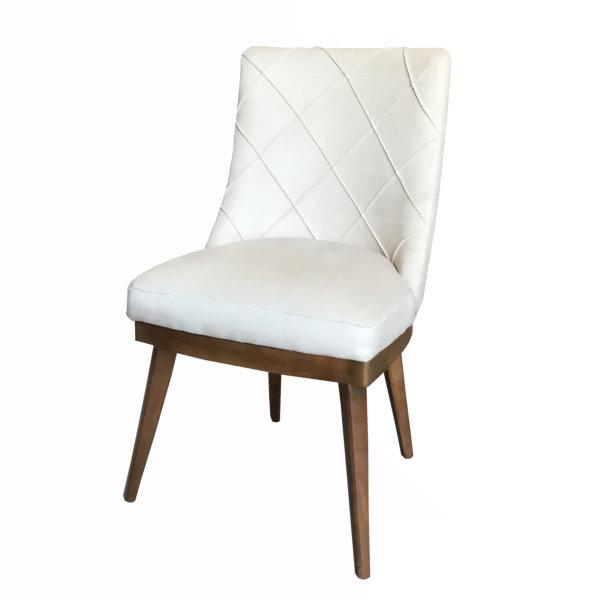 صندلی  تمام پارچه اسپرسان چوب مدل sn04