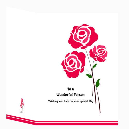 کارت پستال طرح گل رز کد 03fc