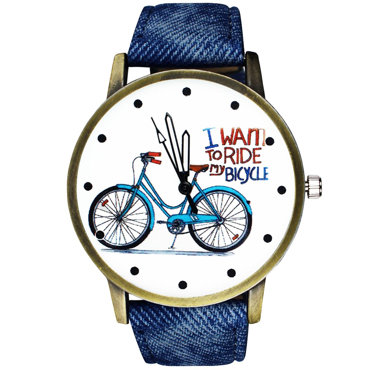 ساعت مچی عقربه ای زنانه مدل Bicycle-01