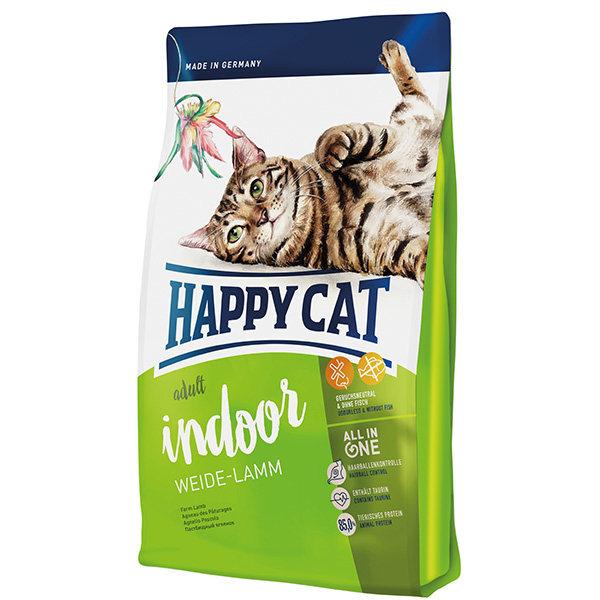 غذای خشک گربه بالغ هپی کت مدل Indlamb01 وزن 1400 گرم