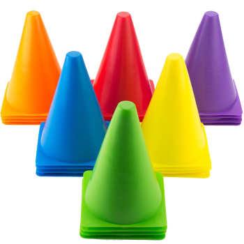 مانع تمرین مدل Training Cones 2020 در 5 رنگ مجموعه 15 عددی به همراه پاوربالانس