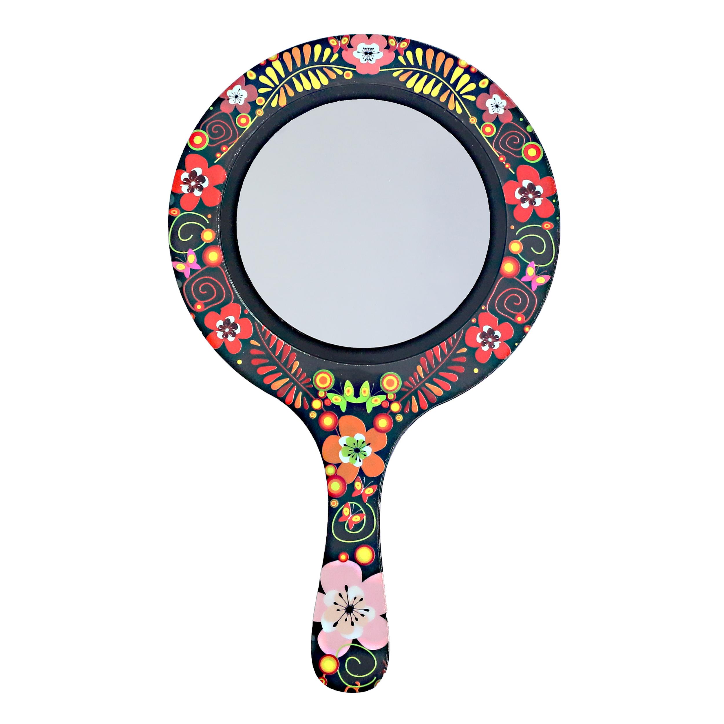 قیمت آینه آرایشی پرسناژ طرح گل مدل M02