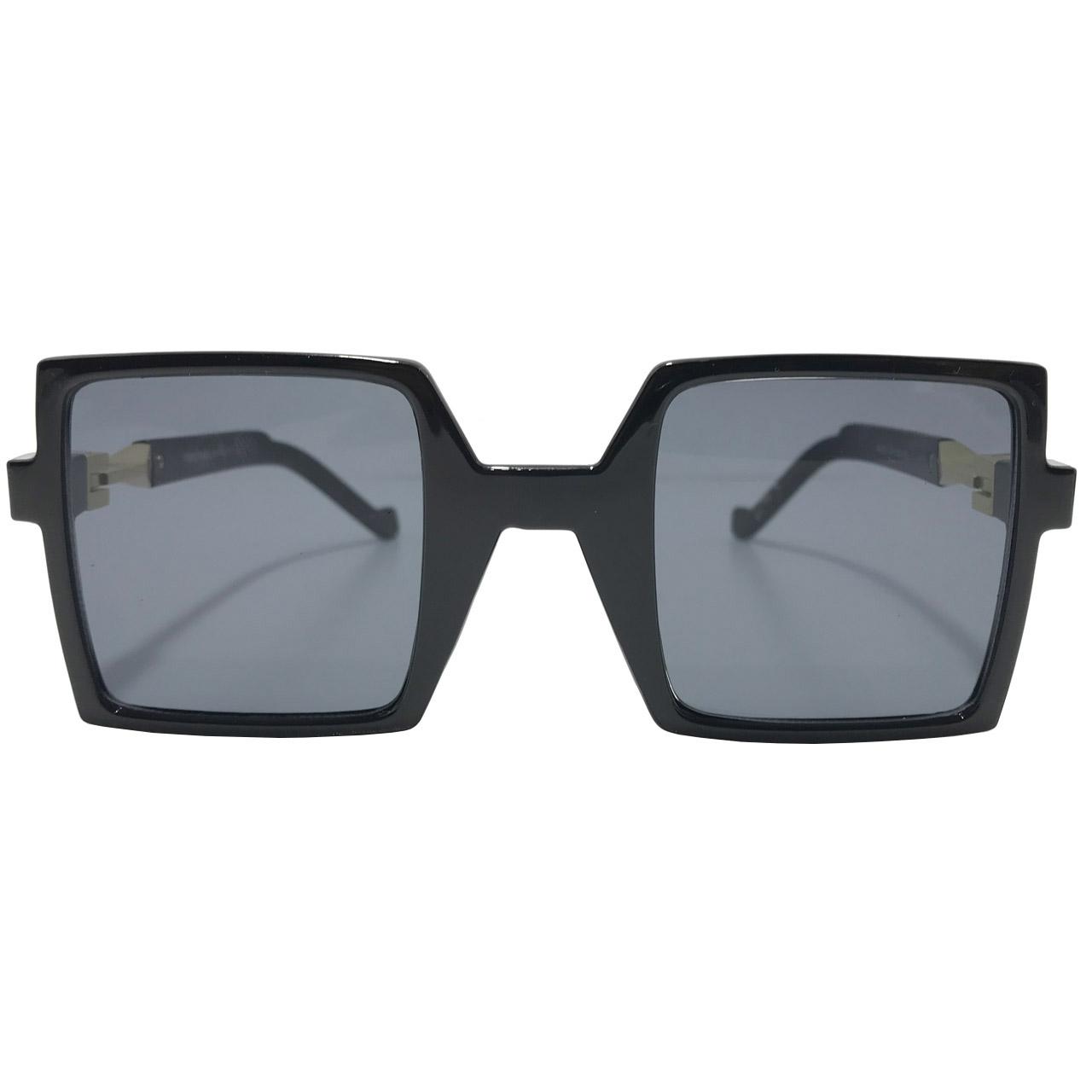 عینک آفتابی زنانه مدل 1-W-WL002 به همراه جاسوییچی چرم طبیعی طرح کفش هدیه