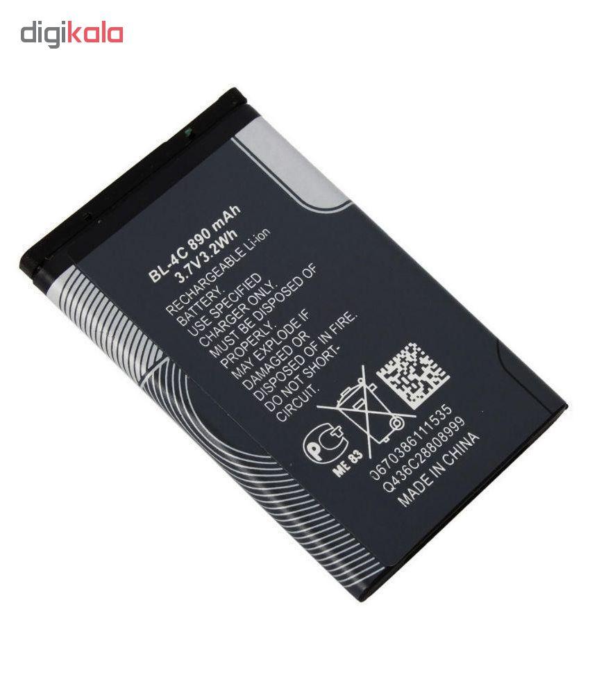 باتری موبایل مدل BL-4C ظرفیت 890 میلی آمپر ساعت مناسب برای گوشی موبایل نوکیا 4c