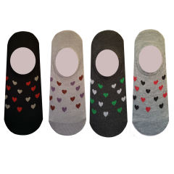 جوراب زنانه طرح قلب مجموعه 4 عددی