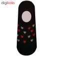 جوراب زنانه طرح قلب مجموعه 4 عددی thumb 1