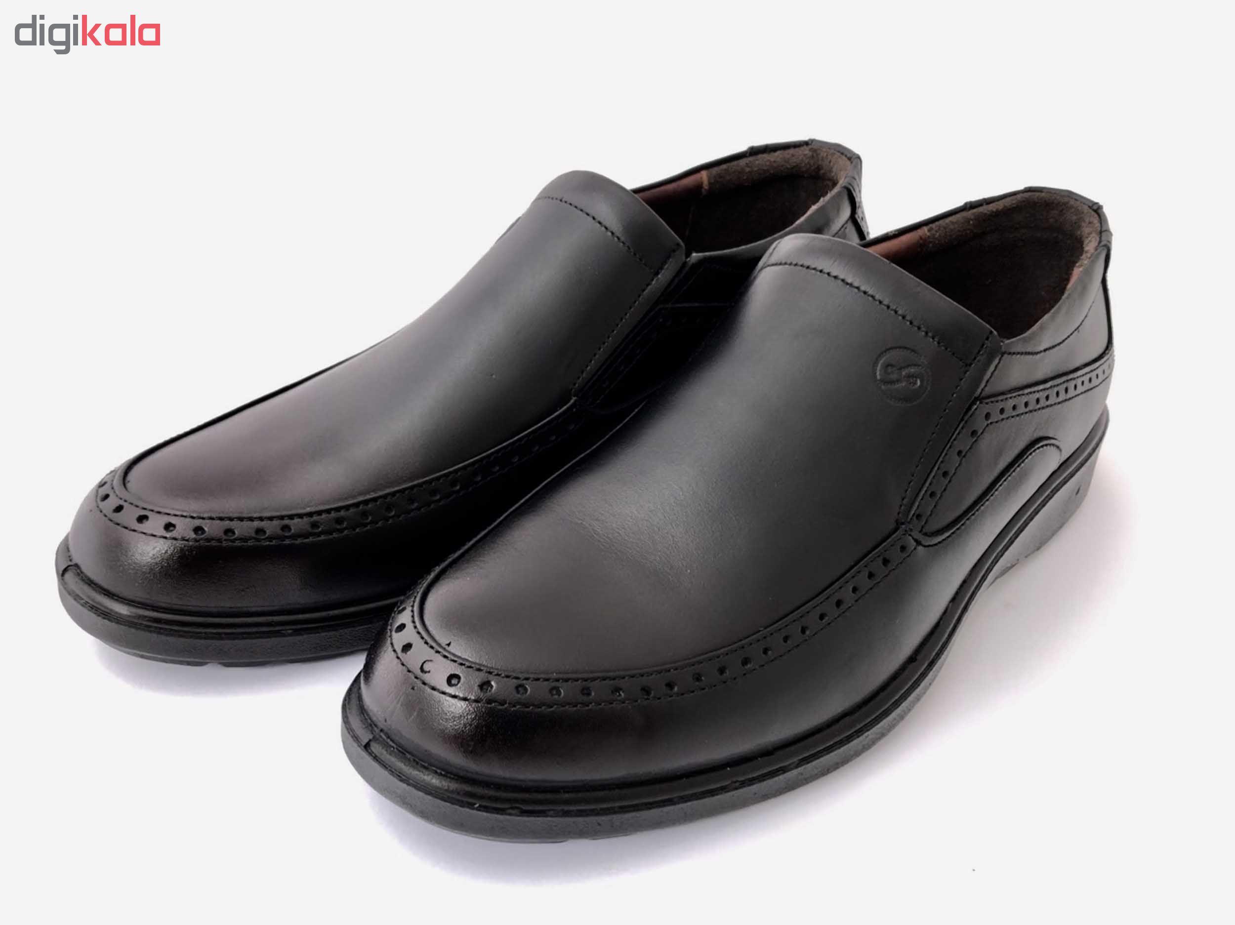 کفش مردانه سایناچرم مدل سفیر رنگ مشکی