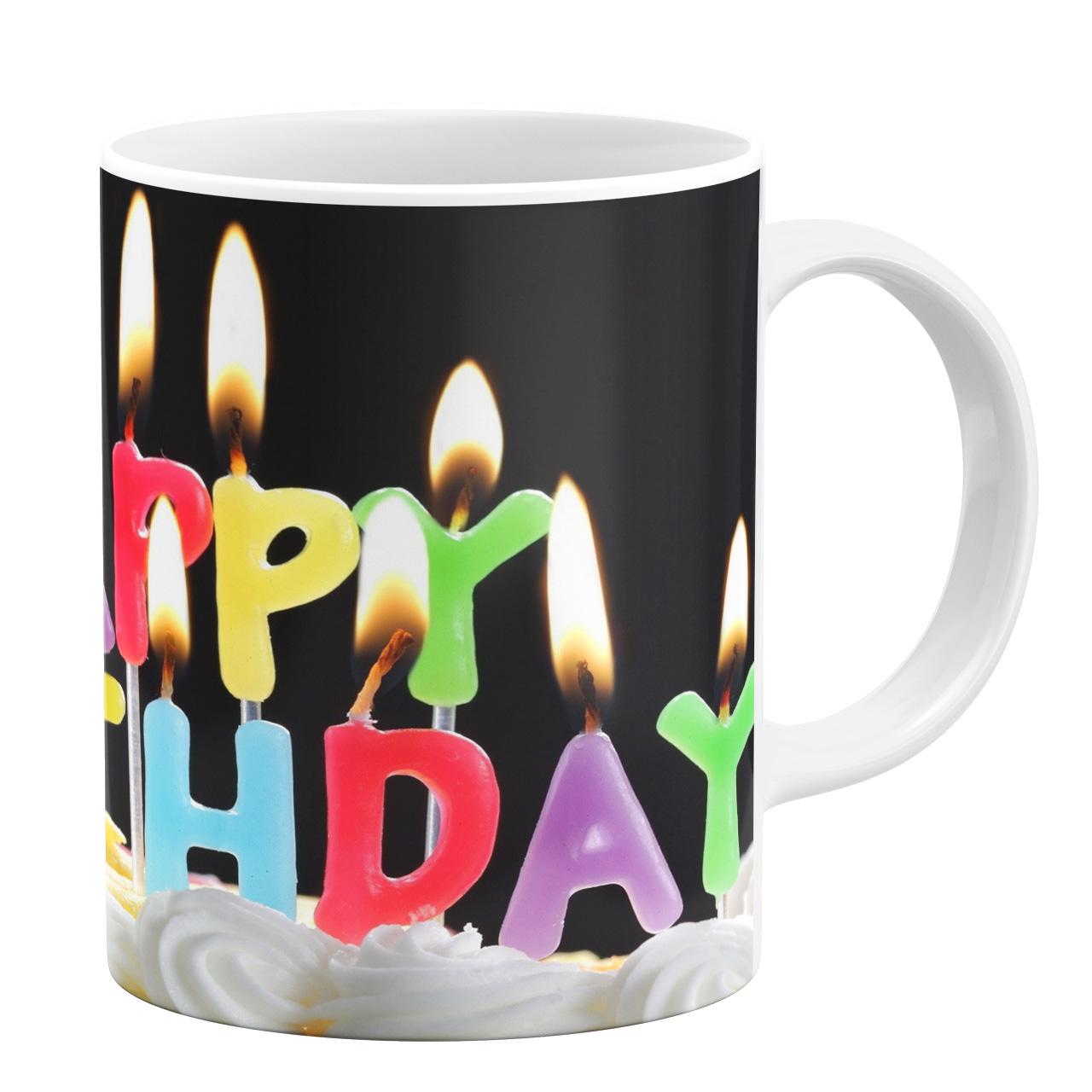عکس ماگ طرح تولدت مبارک کد 10302