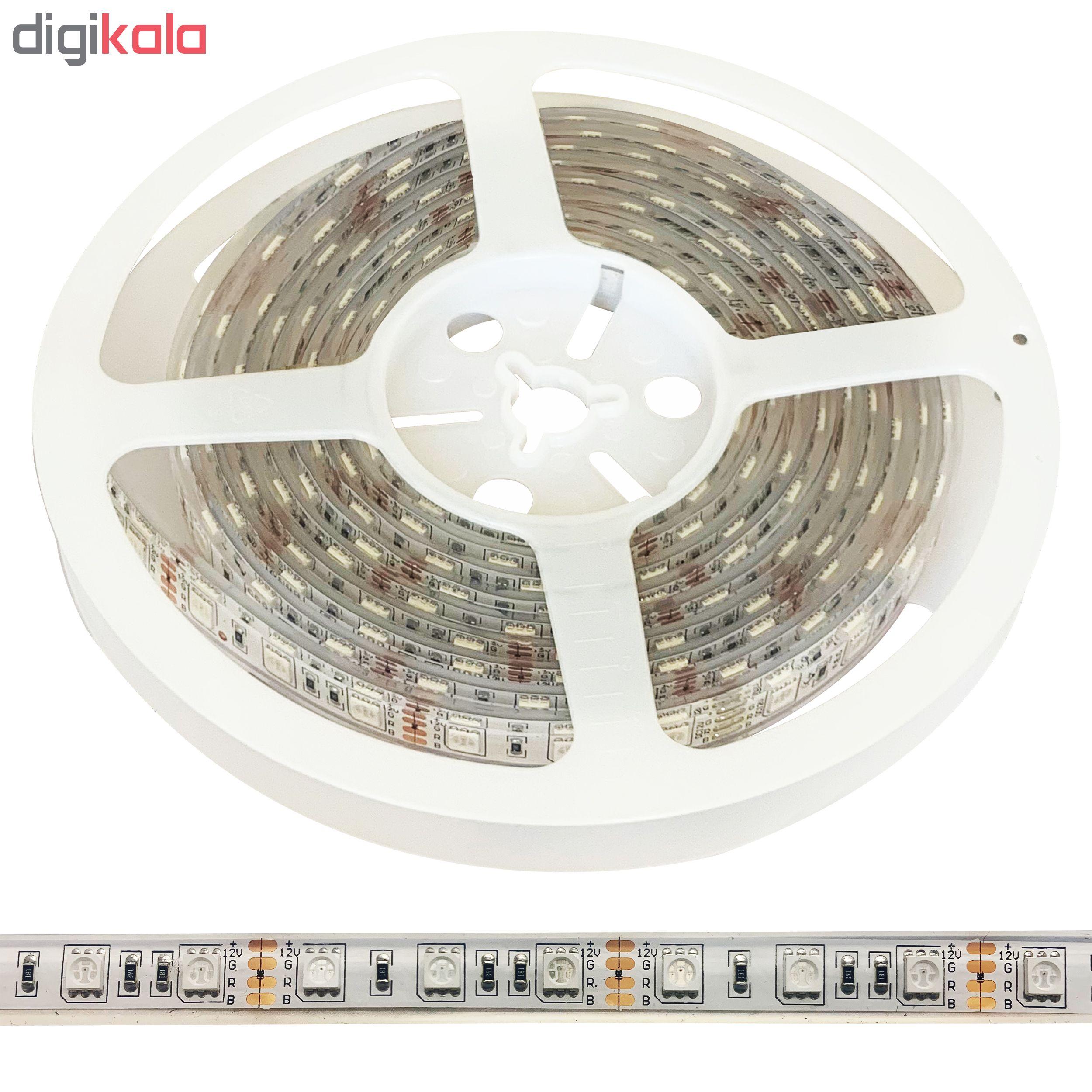 ریسه اس ام دی ال ای دی RGB اف ای سی مدل SMD5050-D60-IP68-10W طول 5 متر