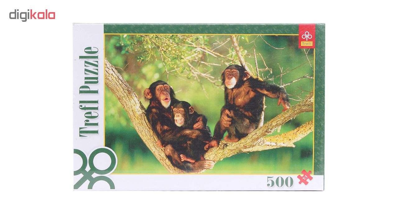 پازل 500 تکه ترفل مدل Chimpanzees 8443
