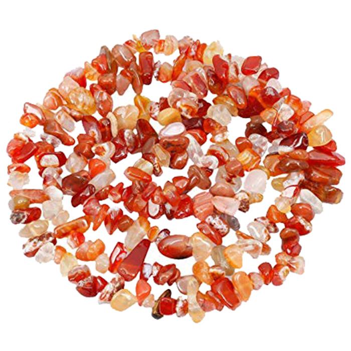 عکس ریسه سنگ عقیق کد 002 رنگ نارنجی