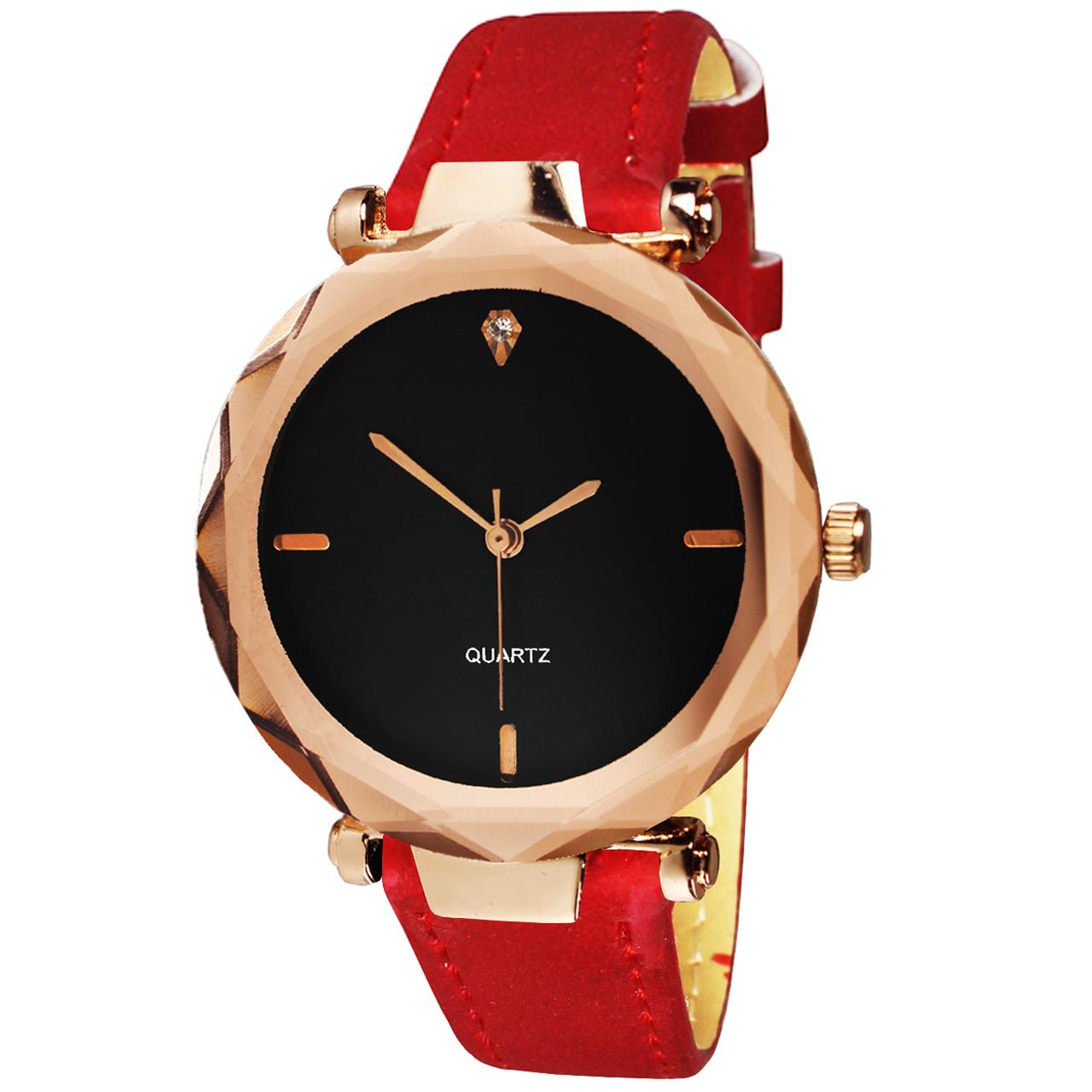 ساعت مچی عقربه ای زنانه مدل Red-001