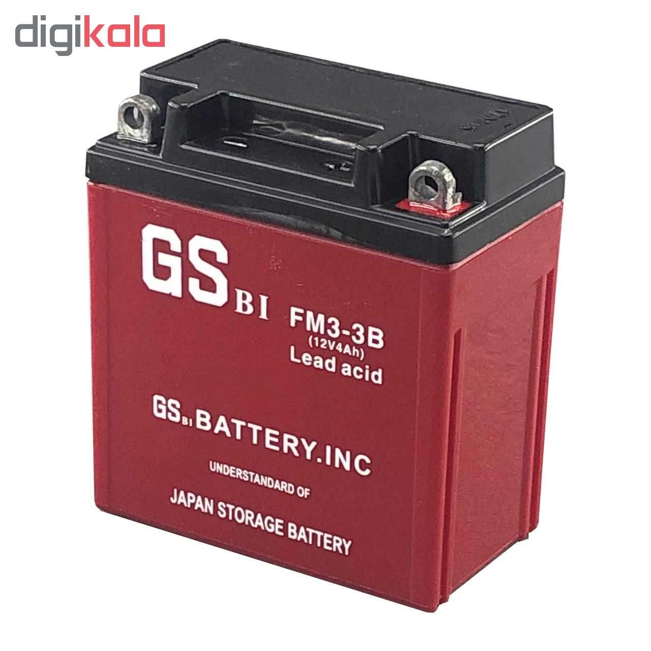خرید اینترنتی با تخفیف ویژه باتری موتور سیکلت جی اس مدل 12N4
