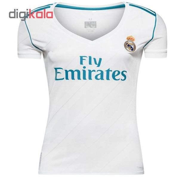 پیراهن ورزشی زنانه طرح رئال مادرید کد 2018  غیر اصل