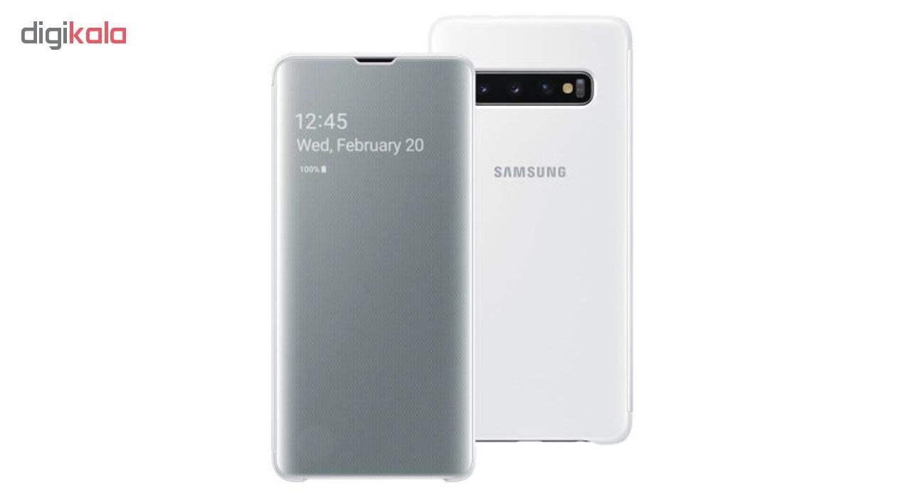 کیف کلاسوری سامسونگ مدل Clear View Standing مناسب برای گوشی موبایل سامسونگ Galaxy S10 Plus main 1 4