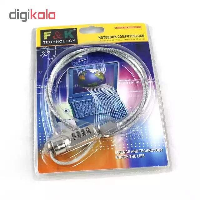 قفل کابلی مناسب لپ تاپ و وسایل الکتریکی مدل GH 2 main 1 3