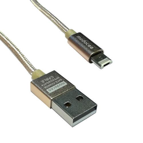 کابل تبدیل USB به لایتنینگ/microUSB مودوسی مدل MDK-T8 طول 1 متر