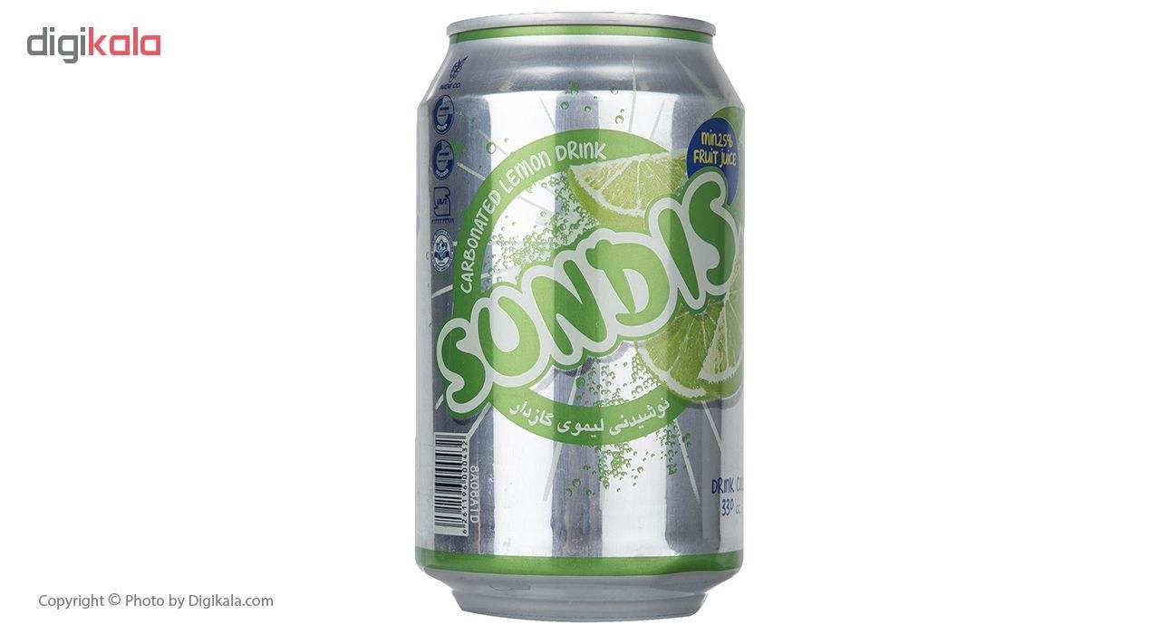 نوشیدنی لیموی گازدار ساندیس حجم 330 میلی لیتر main 1 2