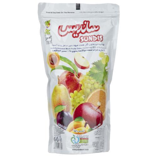 نوشیدنی بدون گاز هفت میوه ساندیس مقدار 240 گرم