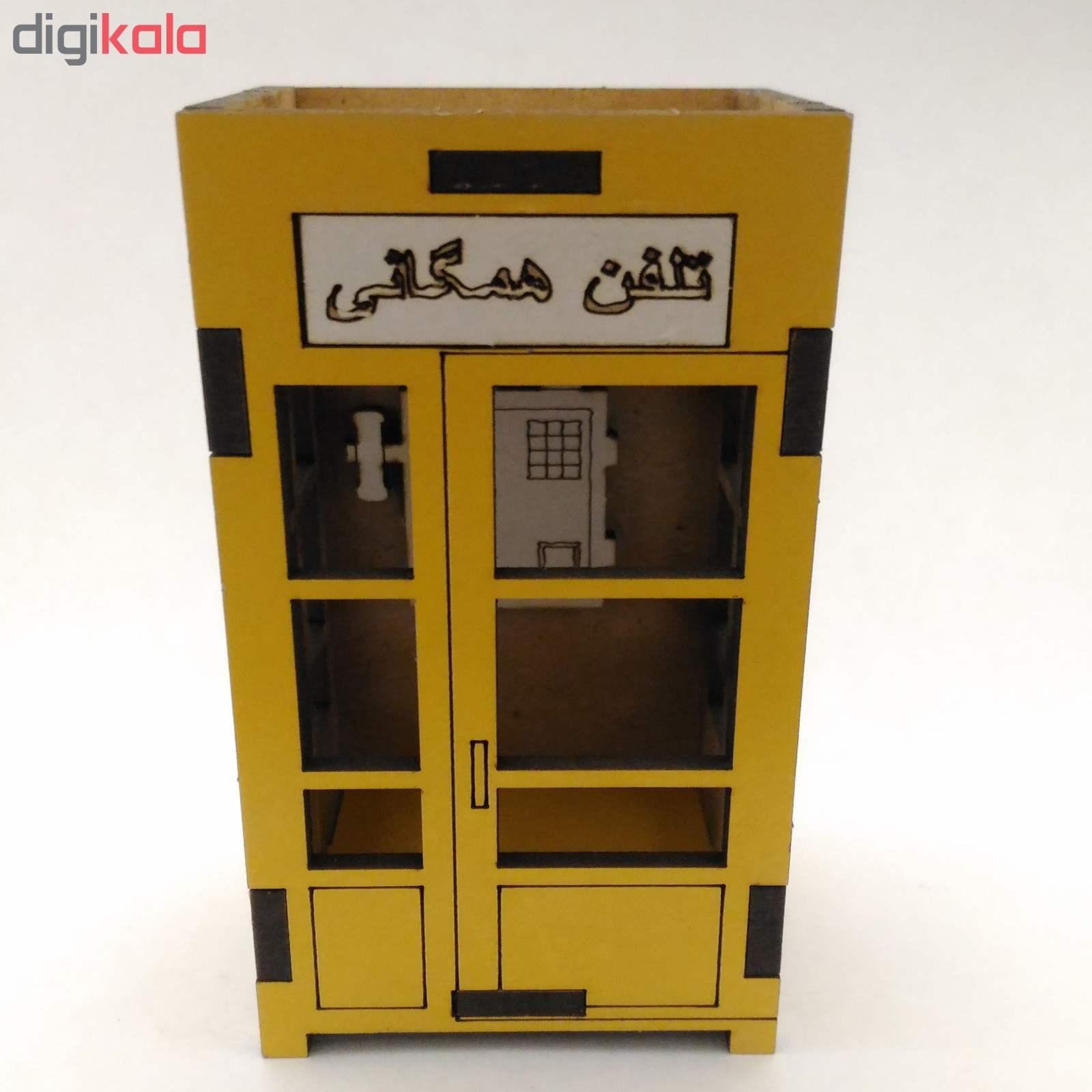 ماکت دکوری باجه تلفن همگانی کد ck009 thumb 2