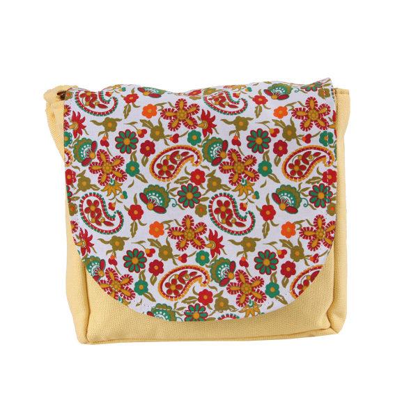 کیف دوشی زنانه طرح بته جقه کد KP0002