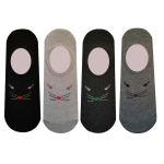 جوراب زنانه طرح موش مجموعه 4 عددی