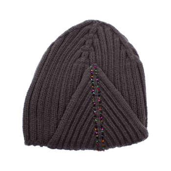 کلاه زنانه تارتن مدل 0580 رنگ ذغالی