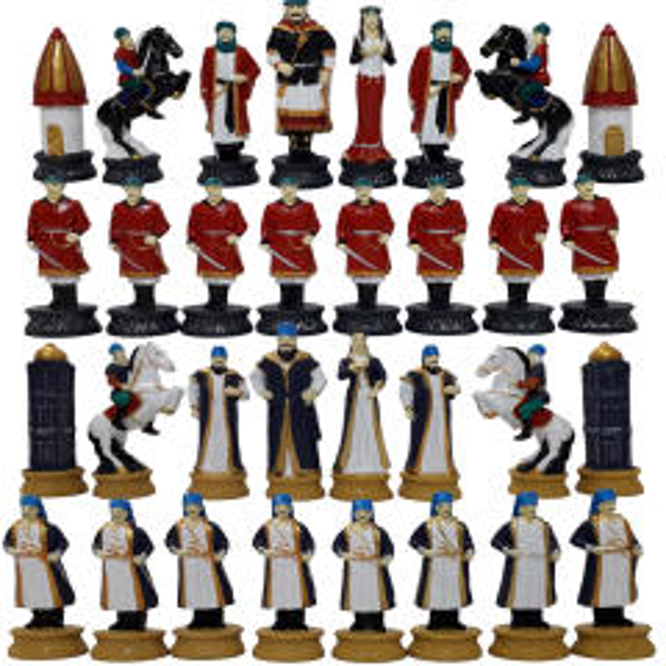 مهره شطرنج مدل E07 مجموعه 32 عددی