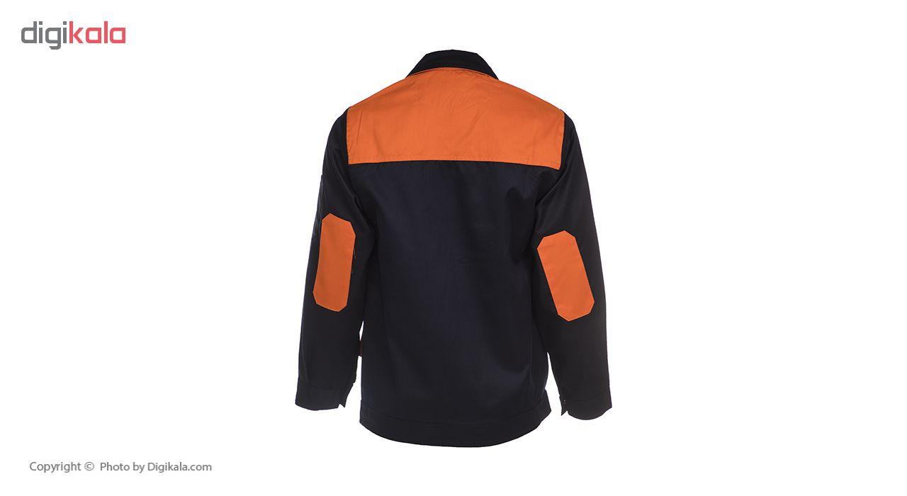 لباس کار مهندسی سبلان کد 04 مدل سرمه ای نارنجی