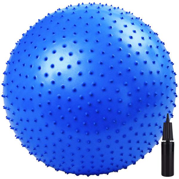 توپ بدنسازی جورکس اورجینال مدل MASSAGE GYM BALL 2020 قطر 75 سانتیمتر به همراه پمپ هوا و DVD و پاوربالانس