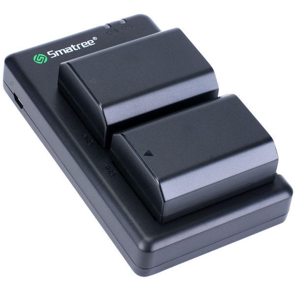 شارژر باتری دوربین به همراه دو باتری اسماتری مدل NP-FZ100