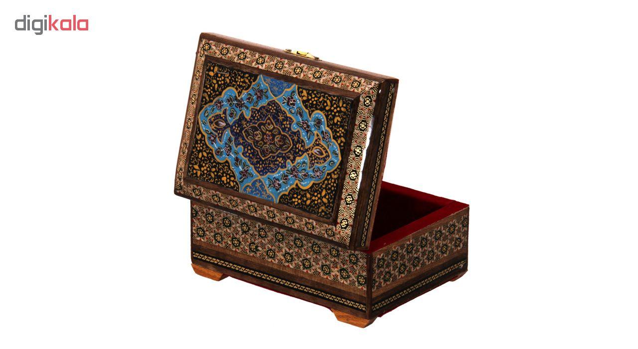 خرید                      جعبه جواهرات خاتم کاری کد 9-70061