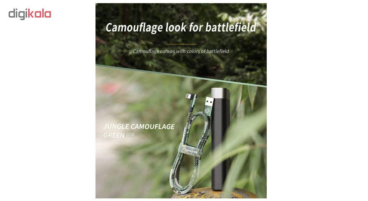 کابل تبدیل USB به لایتنینگ باسئوس مدل BC12 طرح Camoufage طول 2 متر main 1 1