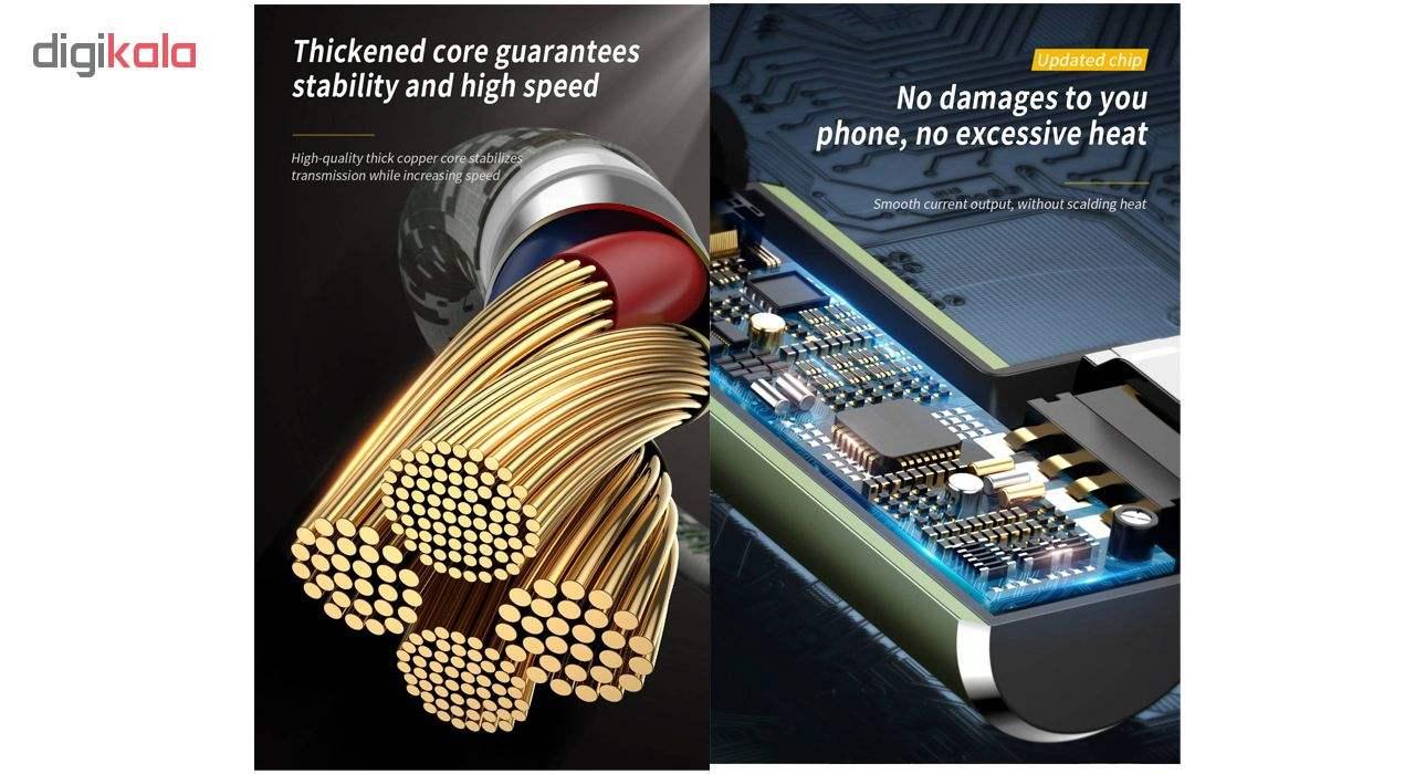 کابل تبدیل USB به لایتنینگ باسئوس مدل BC12 طرح Camoufage طول 2 متر main 1 5